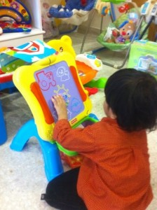 Fisher price magnetic easel - kyle