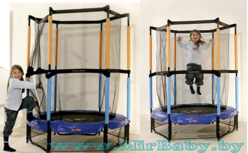 Upper Bounce 55 in. Kid-Friendly Trampoline and Enclosure Set