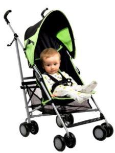 BabyStart Kyle Pushchair - Black and Green компактная коляска трость
