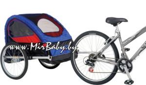 Детский велоприцеп карета напрокат Велоколяска