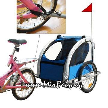 Детский велоприцеп карета напрокат Велоколяска в аренду.